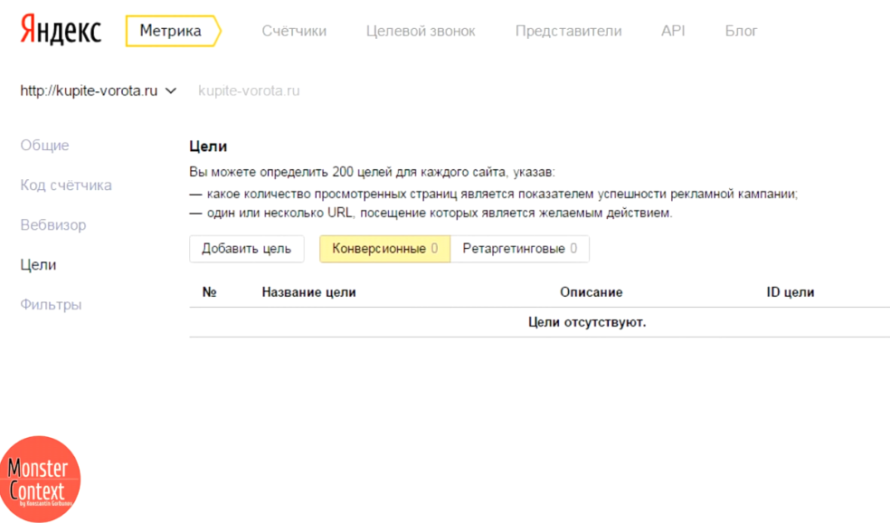 Как установить Яндекс Метрику - Цели