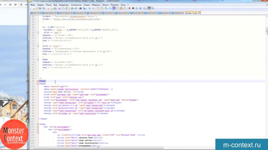 Маркетинговый механизм динамичной страницы или мультилендинг - Тег html