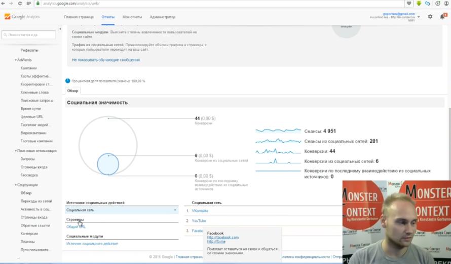 Как смотреть и анализировать статистику Google Analytics - Социальная значимость