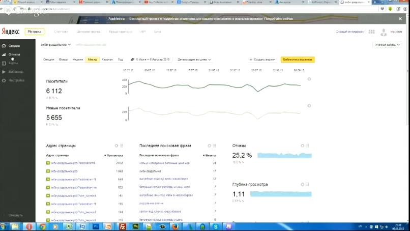 Как анализировать и отсеивать плохие ключи в Яндекс Директ. Статистика рекламных кампаний - Пример счетчика