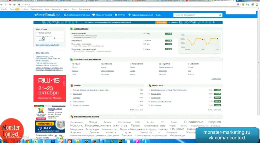 target.mail.ru / target.my.com - Регистрация сайта на top.mail.ru