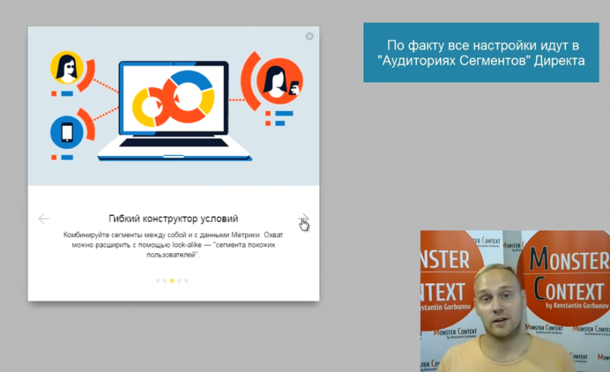 Яндекс Аудитории для Ремаркетинга в Яндекс Директ - Гибкий конструктор условий