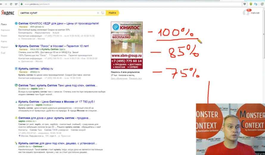 Стратегии показов Яндекс Директ — Наивысшая доступная позиция — Показ в блоке - Первое место всегда показывает лучшие показатели