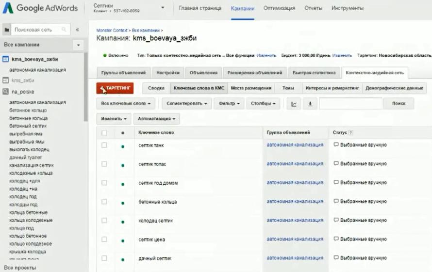Настройка Google AdWords (День 2): таргетинг, КМС, GMC, YT реклама - Что нужно настраивать в контекстно-медийной сети