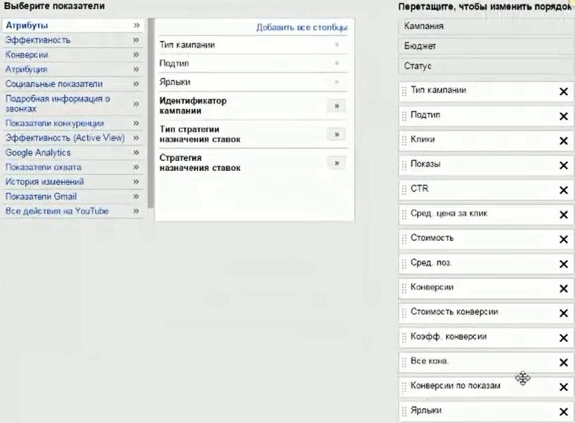 Настройка Google AdWords (День 2): таргетинг, КМС, GMC, YT реклама - Добавить ярлыки