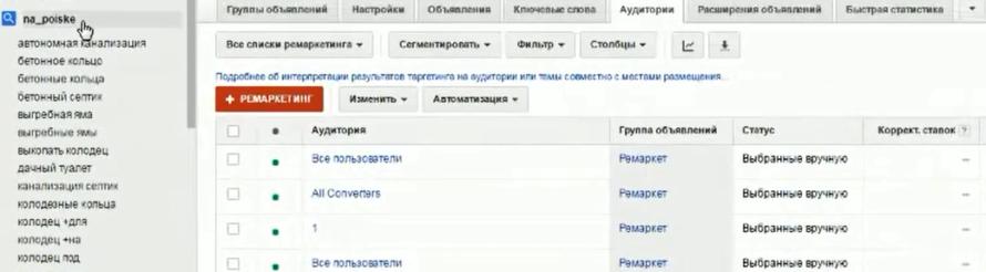 Настройка Google AdWords (День 2): таргетинг, КМС, GMC, YT реклама - Создали группу объявлений