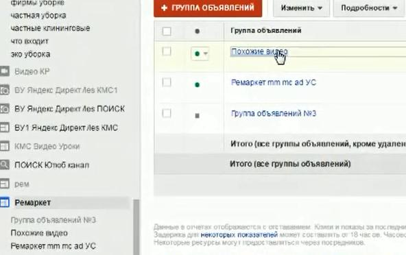 Настройка Google AdWords (День 2): таргетинг, КМС, GMC, YT реклама - Группа объявлений