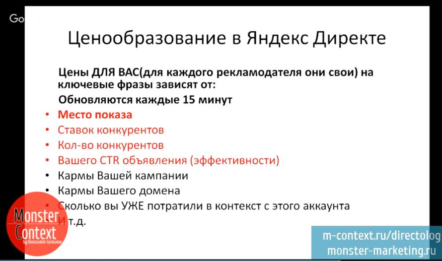 Что такое контекстная реклама - Ценообразование в Яндекс Директе